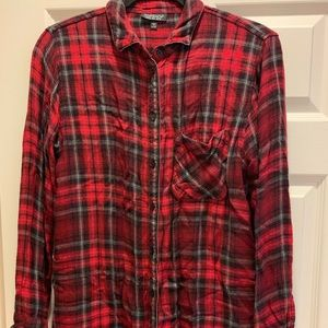 Long sleeve super soft flannel top